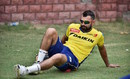Mohammed Shami stretches out, Delhi, April 21, 2016