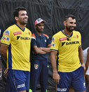 Zaheer Khan and Mohammed Shami share a laugh, Delhi, April 21, 2016