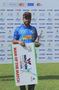 Jubair Hossain poses with his Man-of-the-Match award, Kalabagan Krira Chakra v Abahani Limited, Dhaka Premier League 2016, April 22, 2016