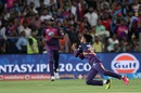 Ankit Sharma spills a catch, Rising Pune Supergiants v Royal Challengers Bangalore, IPL 2016, Pune, April 22, 2016