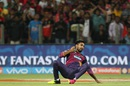 Ankit Sharma takes a catch to dismiss AB de Villiers, Rising Pune Supergiants v Royal Challengers Bangalore, IPL 2016, Pune, April 22, 2016