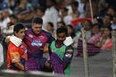 Kevin Pietersen is helped off the field after retiring hurt due to injury, Rising Pune Supergiants v Royal Challengers Bangalore, IPL 2016, Pune, April 22, 2016