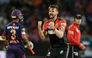 Kane Richardson is ecstatic after dismissing Faf du Plessis, Rising Pune Supergiants v Royal Challengers Bangalore, IPL 2016, Pune, April 22, 2016
