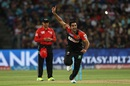 Tabraiz Shamsi is delighted after picking up his first IPL wicket, Rising Pune Supergiants v Royal Challengers Bangalore, IPL 2016, Pune, April 22, 2016