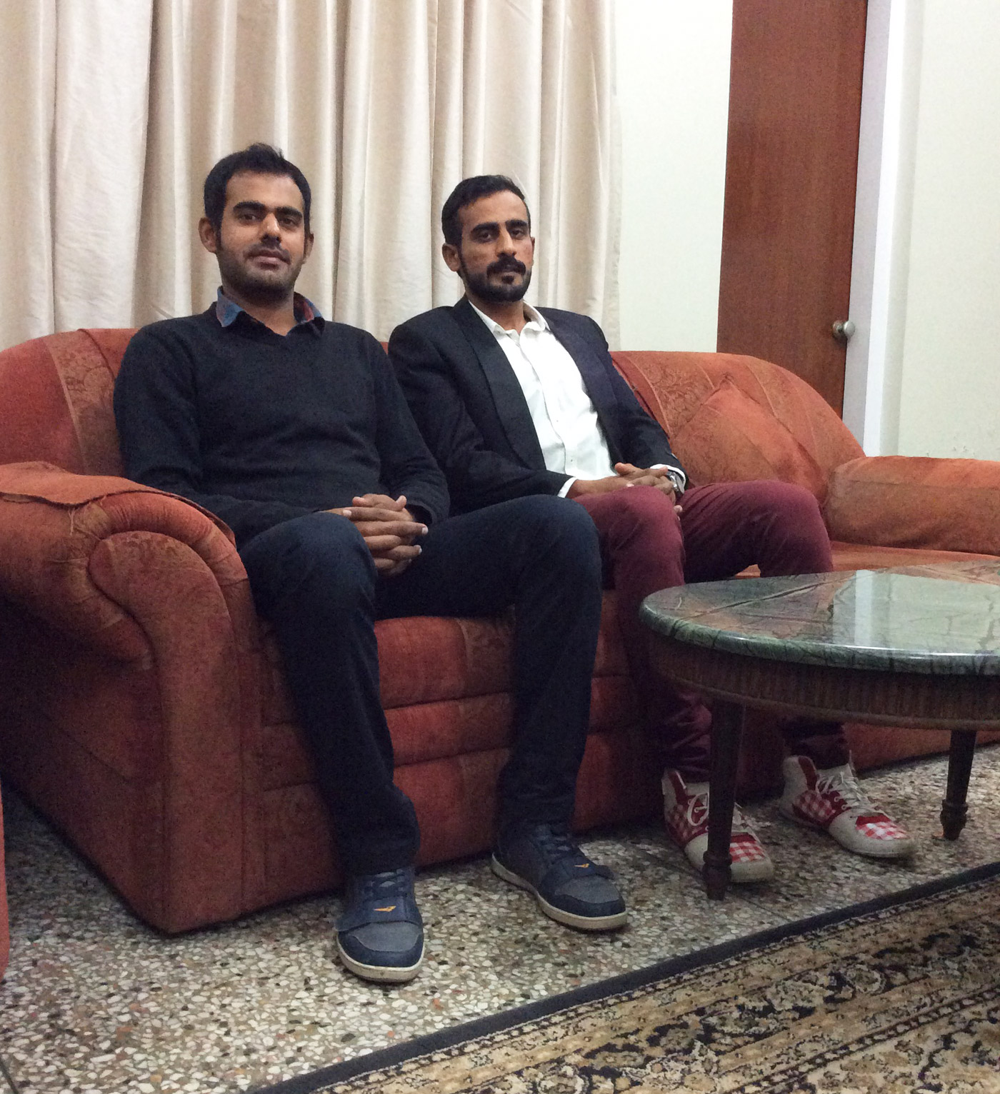 Faisal bin Mubashir (left) and his brother Rafay Ahmed have come disappointingly close to being selected for top-level teams in Pakistan