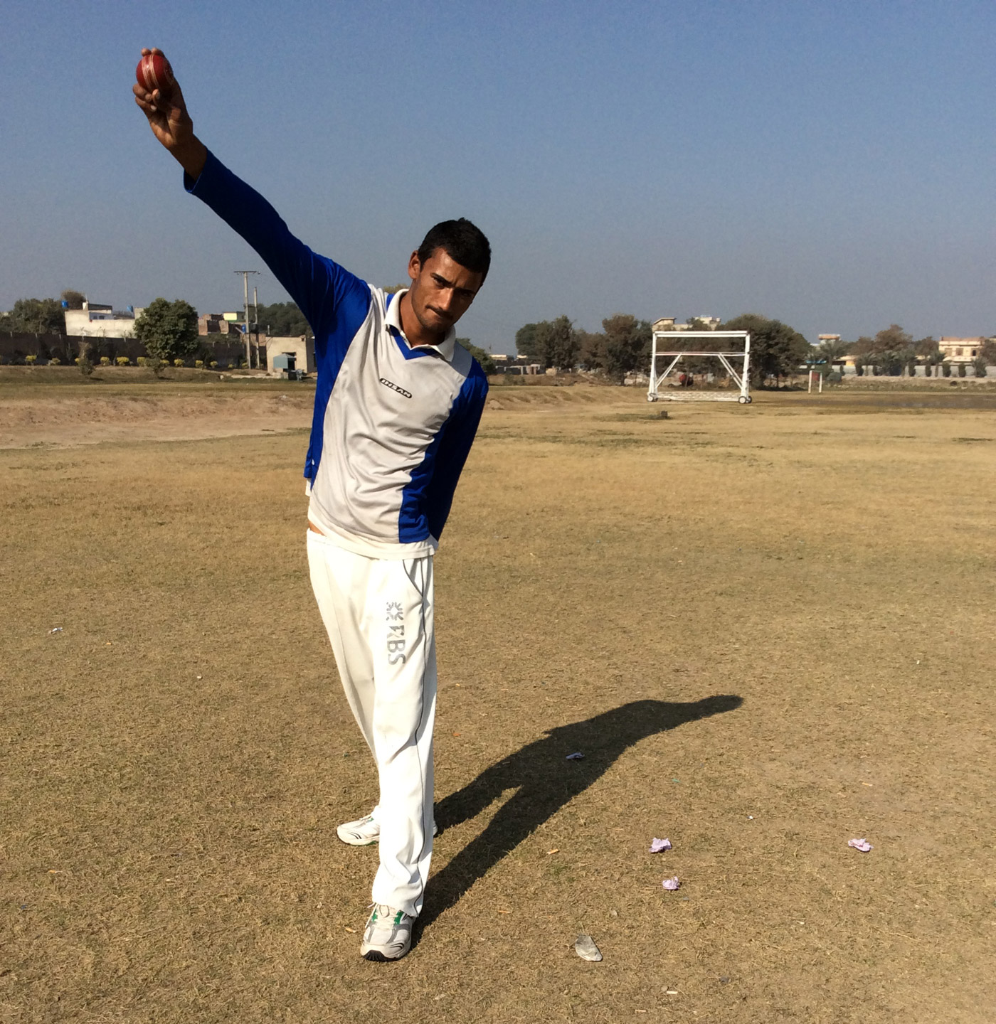 Zubair Ahmad works in a kitchen-utensils shop in Rabwah and plays for Fazl-e-Umar in his spare time