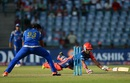 Pawan Negi dives to make his ground, Delhi Daredevils v Mumbai Indians, IPL 2016, Delhi, April 23, 2016
