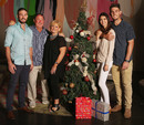 Shaun and Mitchell Marsh with their parents, Geoff and Michelle, and Mitchell's partner, Isabelle Platt at a Christmas lunch in Melbourne, December 25, 2015