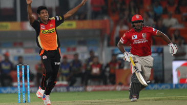 Mustafizur Rahman returned figures of 2 for 9 in his four overs
