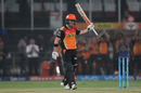 David Warner acknowledges the applause after his third consecutive fifty, Sunrisers Hyderabad v Kings XI Punjab, IPL 2016, Hyderabad, April 23, 2016