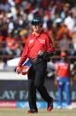 Umpire Bruce Oxenford wears a shield for protection, Gujarat Lions v Royal Challengers Bangalore, IPL 2016, Rajkot, April 24, 2016