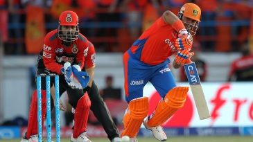 Suresh Raina pushes one to the on side