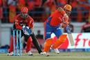 Suresh Raina pushes one to the on side, Gujarat Lions v Royal Challengers Bangalore, IPL 2016, Rajkot, April 24, 2016