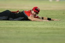 Shane Watson's dive goes in vain as the ball races away to the boundary, Gujarat Lions v Royal Challengers Bangalore, IPL 2016, Rajkot, April 24, 2016