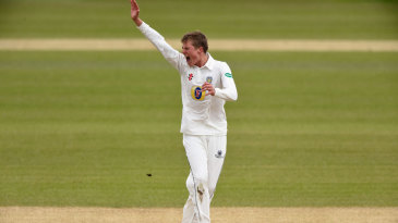 Brydon Carse was playing his third first-class match
