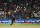 R Sathish launches one over the long-on boundary, Rising Pune Supergiants v Kolkata Knight Riders, IPL 2016, Pune, April 24, 2016