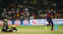Ankit Sharma looks on as R Sathish makes his ground, Rising Pune Supergiants v Kolkata Knight Riders, IPL 2016, Pune, April 24, 2016