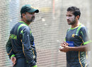 Moin Khan and Bilawal Bhatti at the nets, Dhaka, March 22, 2014