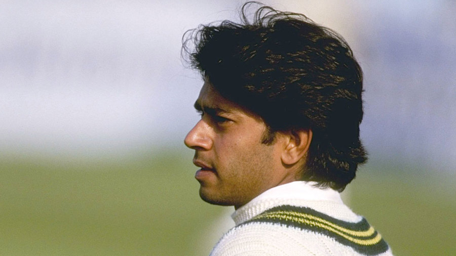 Aaqib Javed looks on