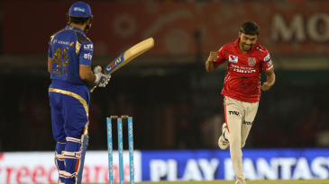 Sandeep Sharma has Rohit Sharma caught behind for a second-ball duck