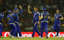 Tim Southee is congratulated after the wicket of M Vijay, Kings XI Punjab v Mumbai Indians, IPL 2016, Mohali, April 25, 2016