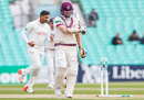 Chris Rogers was bowled by Ravi Rampaul for 11, Surrey v Somerset, Specsavers County Championship, Division One, The Oval, 3rd day, April 26, 2016