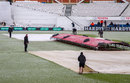 The groundstaff had to deal with the arrival of snow in April, Surrey v Somerset, County Championship, Division One, The Oval, 3rd day, April 26, 2015