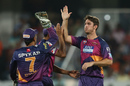 Mitchell Marsh took two key wickets, Sunrisers Hyderabad v Rising Pune Supergiants, IPL 2016, Hyderabad, April 26, 2016