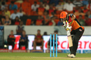 Naman Ojha drives through the off side, Sunrisers Hyderabad v Rising Pune Supergiants, IPL 2016, Hyderabad, April 26, 2016