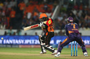 Shikhar Dhawan plays a short-arm cut, Sunrisers Hyderabad v Rising Pune Supergiants, IPL 2016, Hyderabad, April 26, 2016