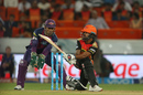 Shikhar Dhawan plays a sweep, Sunrisers Hyderabad v Rising Pune Supergiants, IPL 2016, Hyderabad, April 26, 2016