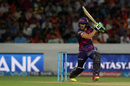 Faf du Plessis works one through the off side, Sunrisers Hyderabad v Rising Pune Supergiants, IPL 2016, Hyderabad, April 26, 2016