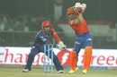 Brendon McCullum goes for a backfoot punch, Delhi Daredevils v Gujarat Lions, IPL 2016, Delhi, April 27, 2016
