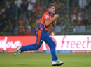 James Faulkner takes a catch to dismiss Sanju Samson, Delhi Daredevils v Gujarat Lions, IPL 2016, Delhi, April 27, 2016