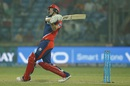 Chris Morris hammers one of his eight humongous sixes, Delhi Daredevils v Gujarat Lions, IPL 2016, Delhi, April 27, 2016