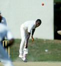 Patrick Patterson bowls in Port-of-Spain, West Indies v England, 2nd Test, Port-of-Spain, March 1986
