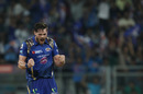 Mitchell McClenaghan is pumped after dismissing Gautam Gambhir, Mumbai Indians v Kolkata Knight Riders, IPL 2016, Mumbai, April 28, 2016