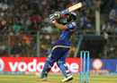 Rohit Sharma creams a six over the leg side, Mumbai Indians v Kolkata Knight Riders, IPL 2016, Mumbai, April 28, 2016