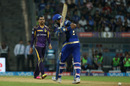 Sunil Narine reacts after getting Krunal Pandya bowled, Mumbai Indians v Kolkata Knight Riders, IPL 2016, Mumbai, April 28, 2016