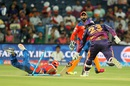 Saurabh Tiwary is caught short of his crease after Suresh Raina breaks the stumps, Rising Pune Supergiants v Gujarat Lions, IPL 2016, Pune, April 29, 2016