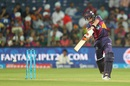 Steven Smith goes inside-out through covers, Rising Pune Supergiants v Gujarat Lions, IPL 2016, Pune, April 29, 2016