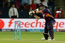 Steven Smith makes room for himself as he prepares to slap one through the off side, Rising Pune Supergiants v Gujarat Lions, IPL 2016, Pune, April 29, 2016