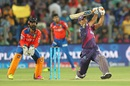 MS Dhoni hammers one over the straight boundary, Rising Pune Supergiants v Gujarat Lions, IPL 2016, Pune, April 29, 2016