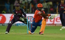 Dwayne Smith shapes up for the reverse sweep, Rising Pune Supergiants v Gujarat Lions, IPL 2016, Pune, April 29, 2016