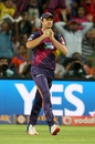 Albie Morkel takes a catch to dismiss Brendon McCullum, Rising Pune Supergiants v Gujarat Lions, IPL 2016, Pune, April 29, 2016
