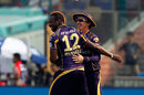Mohawked Andre Russell took out Delhi Daredevils' openers early, Delhi Daredevils v Kolkata Knight Riders, IPL 2016, Delhi, April 30, 2016
