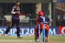 Sam Billings was bowled for 54 by Umesh Yadav, Delhi Daredevils v Kolkata Knight Riders, IPL 2016, Delhi, April 30, 2016