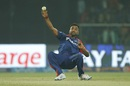Amit Mishra took a brilliant reflex catch to dismiss Andre Russell, Delhi Daredevils v Kolkata Knight Riders, IPL 2016, Delhi, April 30, 2016