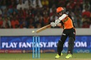 Kane Williamson plays the cut shot, Sunrisers Hyderabad v Royal Challengers Bangalore, IPL 2016, Hyderabad, April 30, 2016