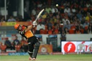 Moises Henriques plays a lofted drive, Sunrisers Hyderabad v Royal Challengers Bangalore, IPL 2016, Hyderabad, April 30, 2016